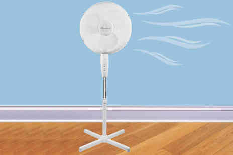 Groundlevel - 16 inch oscillating stand up fan and remote - Save 53%