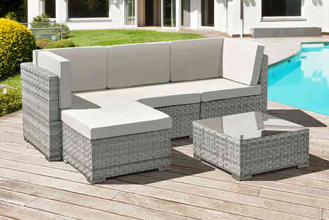 Oseasons - Four seater Trinidad polyrattan garden furniture set - Save 0%