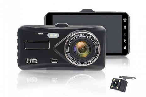 PinkPree - ZoomDrive 4 Inch HD Touch Screen Dash Camera - Save 58%
