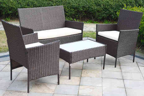 Direct Sourcing - Four piece rattan garden furniture set - Save 73%