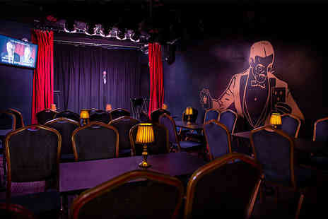Smoke & Mirrors - Ticket for two people to a comedy and magic show with a pizza to share and a glass of Prosecco each - Save 44%