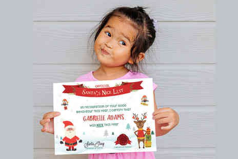 Moments Atelier - Letter from Santa and an official nice list certificate - Save 80%
