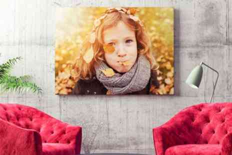 Printerpix - Personalised Photo Canvas in Choice of Size  - Save 74%