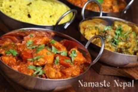 Namaste Nepal - Two Courses of Nepalese or Indian Fare With Rice For Two - Save 53%