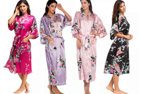 I Nod - Womens satin robe - Save 54%