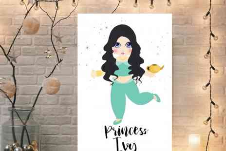Colour House - Personalised Princess Canvas - Save 72%