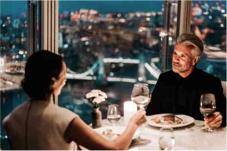 The Shard - Dining in The Sky Private Three Course Dinner with Champagne and Wine for Two - Save 0%