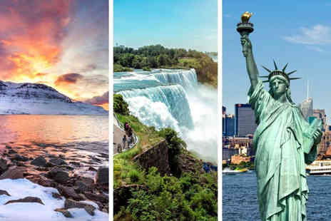 Weekender Breaks - An Iceland, Niagara Falls and New York hotel stay with train transfers return flights - Save 57%