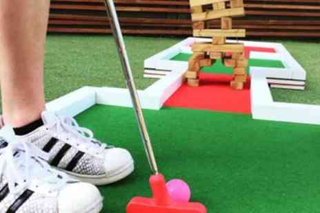 The Shack 68 Live - Crazy Golf with Burger and Cocktail for Up to Four - Save 52%