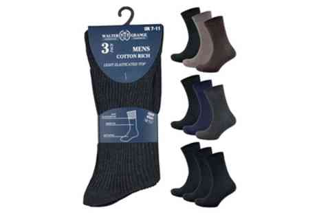 Groupon Goods Global GmbH - Pack of Three Six or Nine Pairs of Mens Diabetic Socks - Save 0%