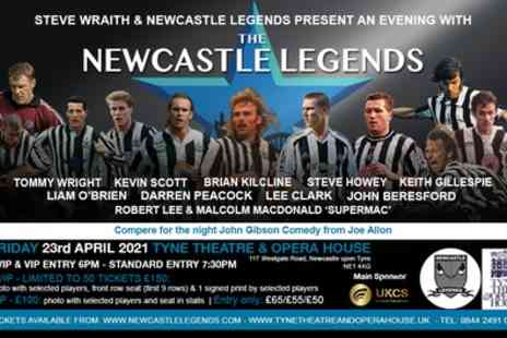 An Evening with The Newcastle Legends - One stall seated general admission, VIP or VVIP ticket - Save 31%