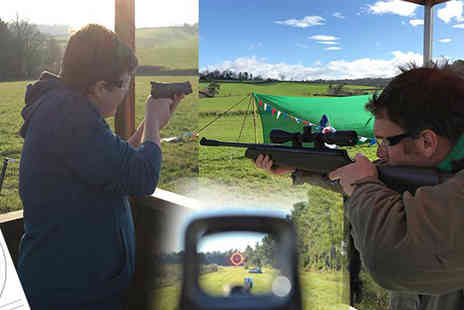 Devon Country Pursuits - One hour air rifle session for two people - Save 55%