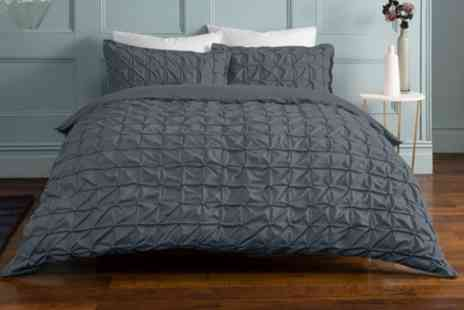 Groupon Goods Global GmbH - Pieridae Ruched Duvet Set - Save 0%