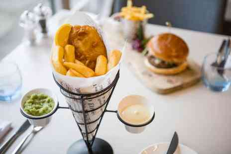 Novotel York Centre - Fish and chips or house burger for two people with a glass of wine or pint of beer each - Save 59%