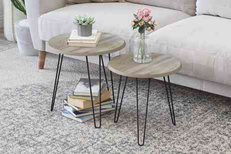 Direct Sourcing - Set of two nested coffee tables - Save 57%