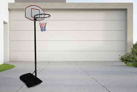 Who Needs Shops - Freestanding adjustable basketball hoop post - Save 0%
