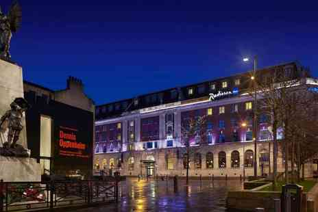 Radisson Blu Hotel - A Leeds City Centre hotel stay for two people including one bottle of Prosecco, breakfast - Save 48%