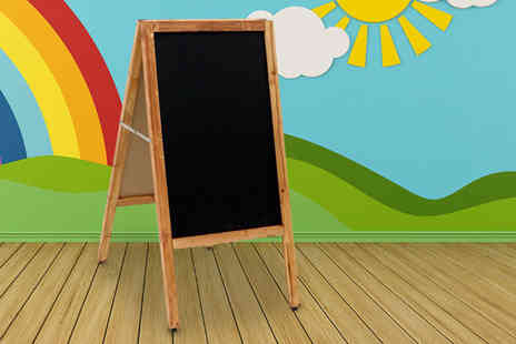 Who Needs Shops - Wooden blackboard display A board - Save 73%
