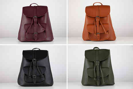 Direct Sourcing - Faux leather rucksack - Save 77%