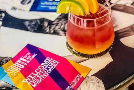 The Scottish Music Experience - Entry ticket exhibition, Edinburgh, including a welcome cocktail - Save 45%