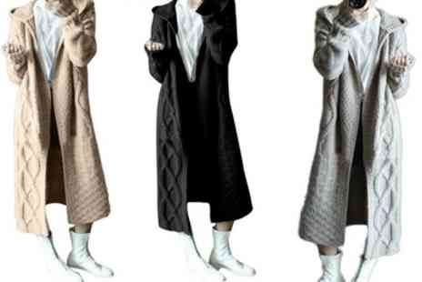 Groupon Goods Global GmbH - Womens Fashion Hooded Cardigan Knitted Long Sweaters - Save 67%