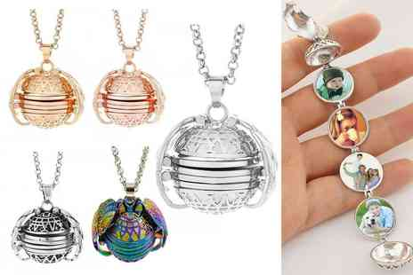 hey4beauty - Four photo pendant locket necklace - Save 0%
