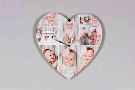 Colour House Print - Personalised photo clock in a circular or heart shape - Save 0%