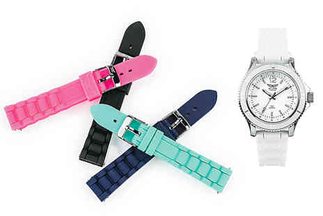 Brand Arena - Aviator ladies watch with five changeable straps - Save 86%