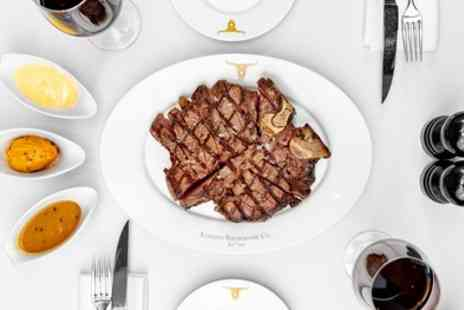 Marco Pierre Whites London Steakhouse Company - 24oz Porterhouse Meal with Fries and Sauces to Share for Two - Save 28%