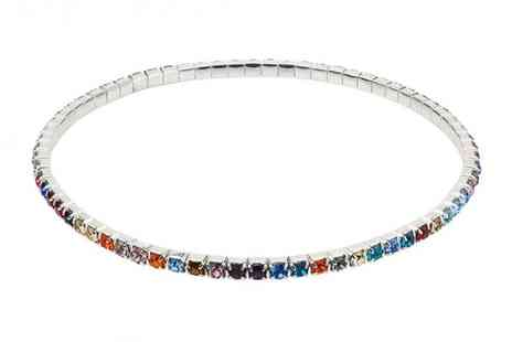 Your Ideal Gift - Multicoloured ankle tennis bracelet - Save 83%