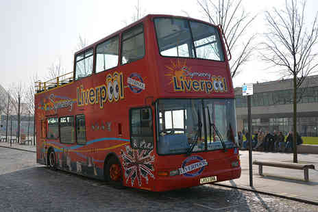 Liverpool City Tours - Open top Liverpool sightseeing tour for two people with a glass of bubbly each - Save 48%