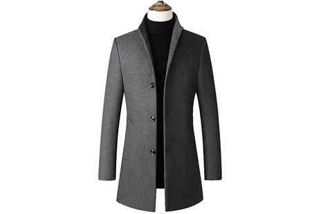 Domosecret - Mens Long Formal Coat - Save 72%