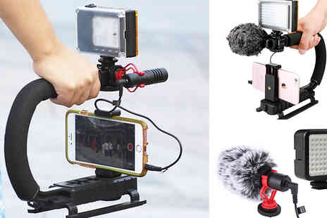 Top Good Chain - Video Stabilising Handle With Optional LED Light and Microphone - Save 67%