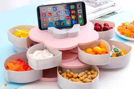 Topgoodchain - Single layer petal shaped snack tray - Save 68%