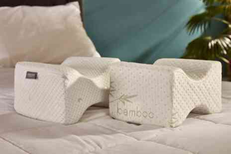Groupon Goods Global GmbH - Starry Night Coolmax Memory Foam or Bamboo Memory Foam Knee Pillow - Save 46%
