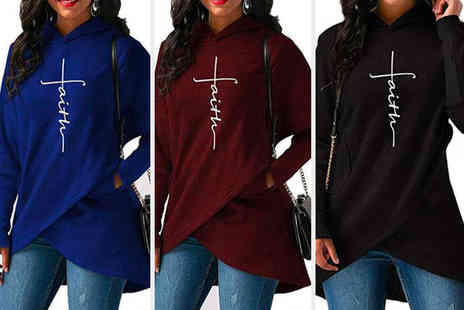 PinkPree - Womens faith slogan casual hooded jumper - Save 0%