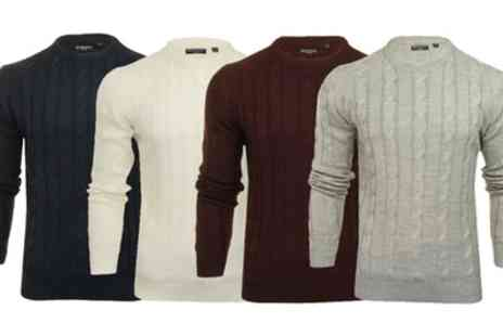 Groupon Goods Global GmbH - Brave Soul Mens Knitted Jumper - Save 0%