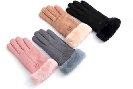 Groupon Goods Global GmbH - Sherpa Lined Womens Winter Gloves - Save 87%