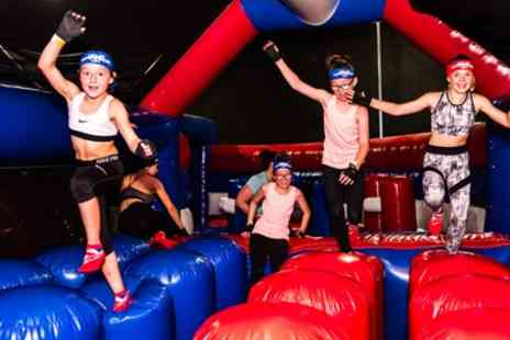 Ninja Warrior UK Cardiff - Entry Adventure and Inflatable Park for Up to Four - Save 21%