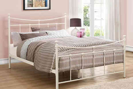 FTA Furnishing - Curved metal double bed frame - Save 62%