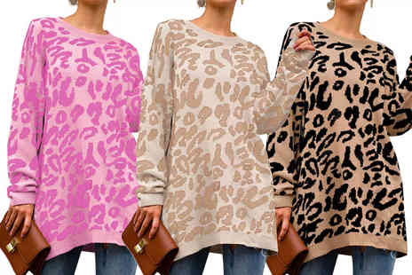 I Nod - Womens animal print long jumper - Save 0%