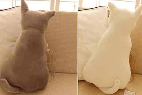 Domosecret - Plush Cat Pillow - Save 70%