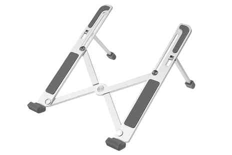 Wish Whoosh Offers - Portable Adjustable Folding Aluminum Laptop Stand - Save 75%