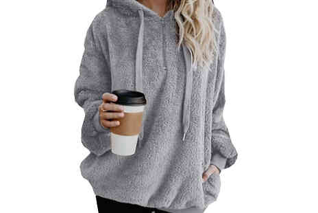 WhoGotThePlan - Loose Hooded Teddy Sweatshirt - Save 82%