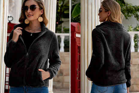 MBLogic - Plush Zipper Coat - Save 76%