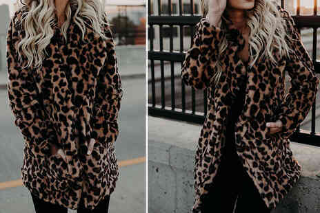 Wish Whoosh Offers - Fluffy Leopard Print Jacket - Save 75%
