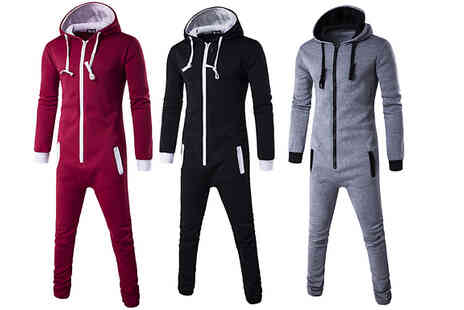 Flashingpineapple - Mens Hooded Onesie - Save 67%
