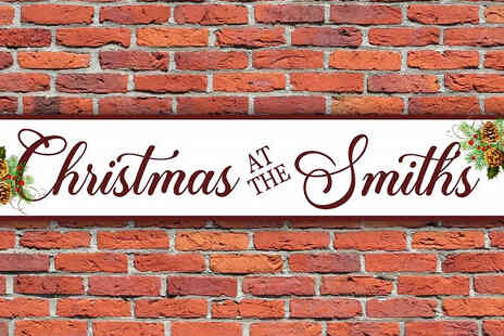 Colour House - Personalised Christmas Vintage Style Sign - Save 73%