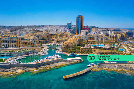 Fly Trip Travel - A St. Julians, Malta hotel stay with breakfast and return flights - Save 49%