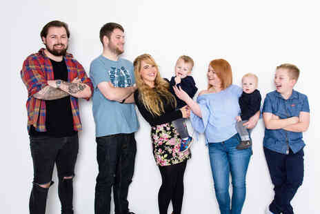Fulton Studios - Family photoshoot for up to 20 people and one 6 Inch x 4 Inch print - Save 0%